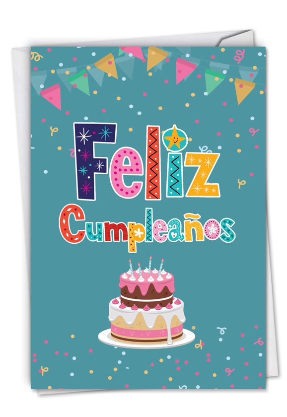 Feliz Cumpleanos Funny Birthday Paper Greeting Card