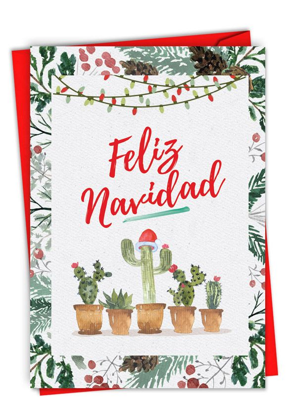 Feliz Navidad: Hilarious Merry Christmas Printed Greeting Card