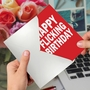 Hilarious Birthday Printed Greeting Card By Scott Nickel From NobleWorksCards.com - Flicking Wishes image 3