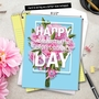 Stylish Administrative Professionals Day Jumbo Printed Card from NobleWorksCards.com - Flowers From All image 6