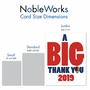 Humorous Graduation Thank You Jumbo Paper Greeting Card From NobleWorksCards.com - Football - 2019 image 4
