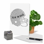 Stylish Thank You Paper Greeting Card From NobleWorksCards.com - Football Helmet image 6