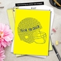 Stylish Thank You Jumbo Paper Greeting Card From NobleWorksCards.com - Football Helmet image 6