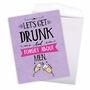 Hilarious Galentine's Day Jumbo Printed Greeting Card From NobleWorksCards.com - Forget About Men image 2