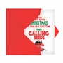 Humorous Merry Christmas Paper Card From NobleWorksCards.com - Four Calling Birds image 2