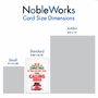 Humorous Merry Christmas Paper Card From NobleWorksCards.com - Four Calling Birds image 4