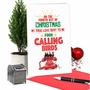 Humorous Merry Christmas Paper Card From NobleWorksCards.com - Four Calling Birds image 5