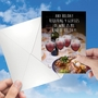 Humorous Passover Paper Card From NobleWorksCards.com - Four Glasses of Wine image 3