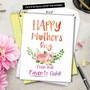 Stylish Mother's Day Jumbo Card From NobleWorksCards.com - From Mom's Favorite Child image 6