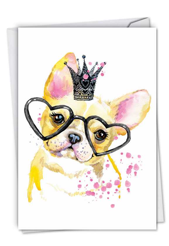 Funky Colorful Creatures Dog Creative Birthday Printed Greeting Card