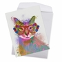 Stylish Birthday Jumbo Paper Greeting Card By World Art Group From NobleWorksCards.com - Funky Rainbow Cats - Cool Cat image 2