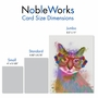 Stylish Birthday Jumbo Paper Greeting Card By World Art Group From NobleWorksCards.com - Funky Rainbow Cats - Cool Cat image 4