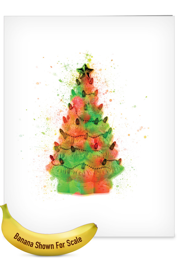 Funky Rainbow Christmas Stylish Merry Christmas Over Sized Paper