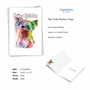 Creative Birthday Printed Card From NobleWorksCards.com - Funky Rainbow Dogs - Terrier image 2