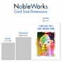 Creative Birthday Jumbo Printed Greeting Card From NobleWorksCards.com - Funky Rainbow Llamas image 4