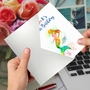 Stylish Birthday Card From NobleWorksCards.com - Funky Rainbow Mermaids image 5