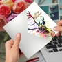 Creative Merry Christmas Greeting Card From NobleWorksCards.com - Funky Rainbow Reindeer - Profile image 3