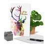 Creative Merry Christmas Greeting Card From NobleWorksCards.com - Funky Rainbow Reindeer - Profile image 6