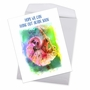 Creative Get Well Jumbo Printed Card From NobleWorksCards.com - Funky Rainbow Sloth image 2