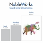 Creative Birthday Jumbo Printed Card By World Art Group From NobleWorksCards.com - Funky Rainbow Wildlife - Elephant image 4