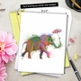 Creative Birthday Jumbo Printed Card By World Art Group From NobleWorksCards.com - Funky Rainbow Wildlife - Elephant image 6