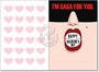 Hilarious Valentine's Day Greeting Card by Glen Hanson from NobleWorksCards.com - Gaga For You image 1
