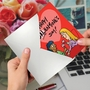 Funny Galentine's Day Paper Card By Susan Camilleri Konar From NobleWorksCards.com - Gallons of Wine image 2