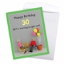 Hysterical Milestone Birthday Jumbo Greeting Card By Thea Musselwhite From NobleWorksCards.com - Get Real 30 image 3