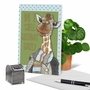 Hysterical Birthday Printed Greeting Card By Christine Anderson From NobleWorksCards.com - Giraffe Nose image 6