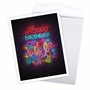Creative Birthday Jumbo Paper Card From NobleWorksCards.com - Glowing Wishes - Balloons image 2