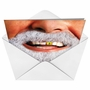 Funny Christmas Paper Card from NobleWorksCards.com - Gold Tooth Santa image 2