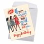 Hysterical Birthday Jumbo Greeting Card By Offensive+Delightful From NobleWorksCards.com - Good Looking image 3
