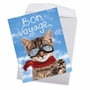 Humorous Bon Voyage Jumbo Paper Greeting Card From NobleWorksCards.com - Goodbye Cat image 2