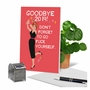 Funny New Year Paper Greeting Card By Bluntcard From NobleWorksCards.com - Goodbye Last Year image 6