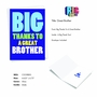 Hysterical Brother Thank You Greeting Card From NobleWorksCards.com - Great Brother image 2