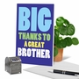 Hysterical Brother Thank You Greeting Card From NobleWorksCards.com - Great Brother image 6