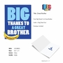 Humorous Brother Thank You Jumbo Card From NobleWorksCards.com - Great Brother image 2