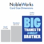 Humorous Brother Thank You Jumbo Card From NobleWorksCards.com - Great Brother image 5