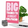 Funny Thank You Paper Card From NobleWorksCards.com - Great Girlfriend image 6