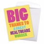 Hilarious Thank You Jumbo Printed Greeting Card From NobleWorksCards.com - Great Healthcare Worker image 3