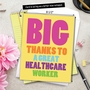 Hilarious Thank You Jumbo Printed Greeting Card From NobleWorksCards.com - Great Healthcare Worker image 6