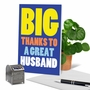 Hilarious Thank You Printed Greeting Card From NobleWorksCards.com - Great Husband image 6