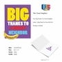Humorous Thank You Jumbo Paper Card From NobleWorksCards.com - Great Neighbor image 2