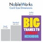 Humorous Thank You Jumbo Paper Card From NobleWorksCards.com - Great Neighbor image 5