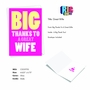Funny Thank You Paper Greeting Card From NobleWorksCards.com - Great Wife image 2