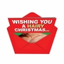 Hysterical Christmas Paper Greeting Card from NobleWorksCards.com - Hairy Christmas image 2