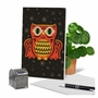 Creative Halloween Printed Greeting Card By Steve Mack From NobleWorksCards.com - Halloween Masks - Owl image 6