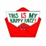 Funny Christmas Greeting Card from NobleWorksCards.com - Happy Face image 2