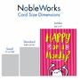 Funny Retirement Jumbo Paper Card From NobleWorksCards.com - Happy Monday image 5