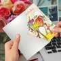 Creative Birthday Printed Card By Robbin Rawlings From NobleWorksCards.com - Happy Unicorns image 3